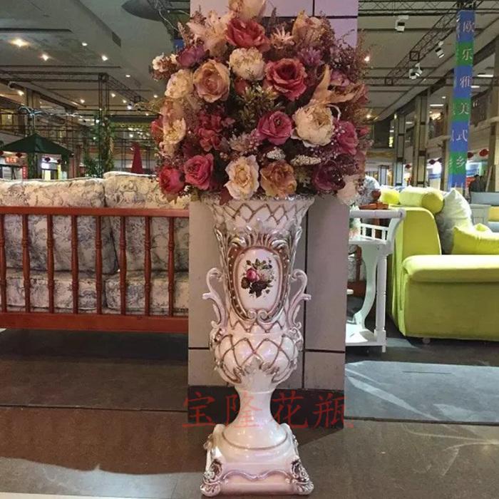 欧式落地大花瓶插花客厅装饰摆件家居饰品工艺品摆设
