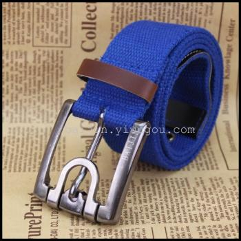 One hundred gold men and women universal canvas belt spot wholesale 1SDM080348