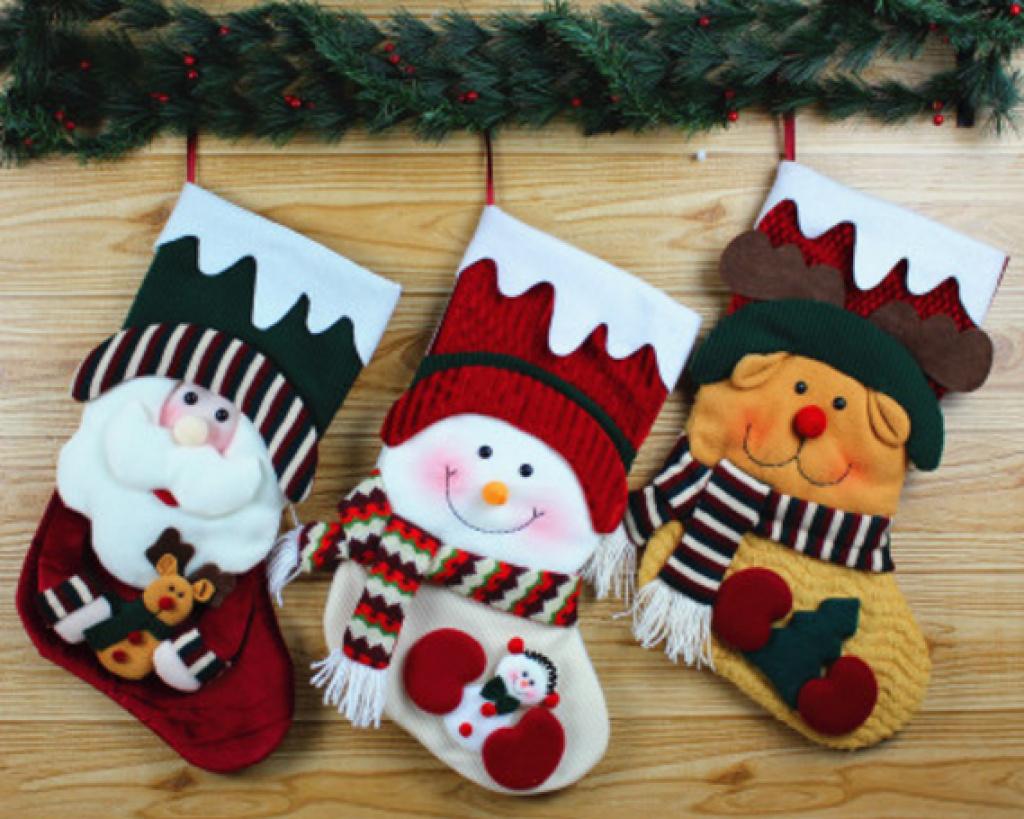 圣诞老人手工制作图片 袜子