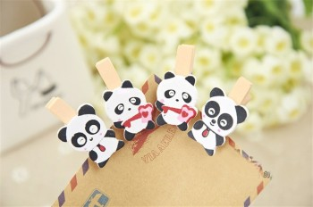 [factory direct sale] wooden title folder creative photo folders office gift panda design
