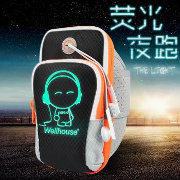 ランニングの携帯電話腕バッグ男性屋外設備のフィットネス・アーム・スリーブアップルバッグ女性腕手首ランニングスポーツバッグ
