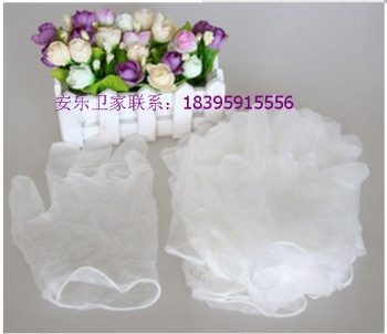 The manufacturer PVC disposable industrial protective gloves disposable translucent powder free acid and alkali glove