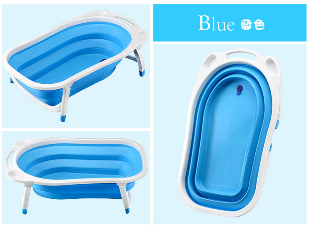 supply foldable baby bath tub three colors high quality baby tub baby shower. Black Bedroom Furniture Sets. Home Design Ideas
