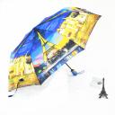 【3557A】创意油画雨伞 半自动晴雨伞防紫外伞