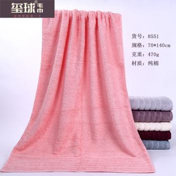 纯棉浴巾 酒店浴巾 素色吸水浴巾