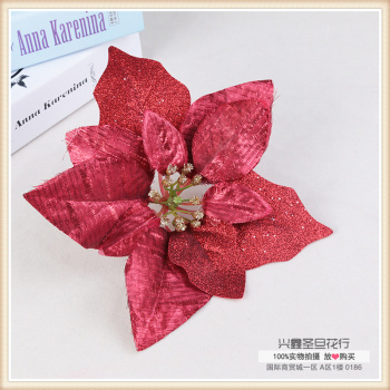 Red shiny gold pink flowers artificial flowers sequined flower decoration Home Furnishing