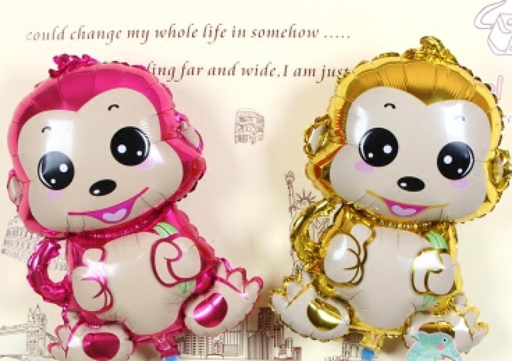 卡通猴子气球猴宝宝造型铝膜气球