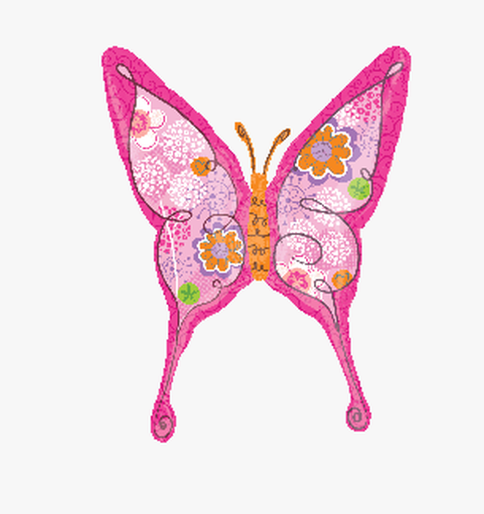 卡通蝴蝶造型铝膜气球 生日气球造型布置