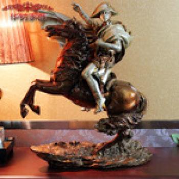 欧式摆件 拿破仑骑马雕像 树脂工艺装修装饰品 商务开业礼品