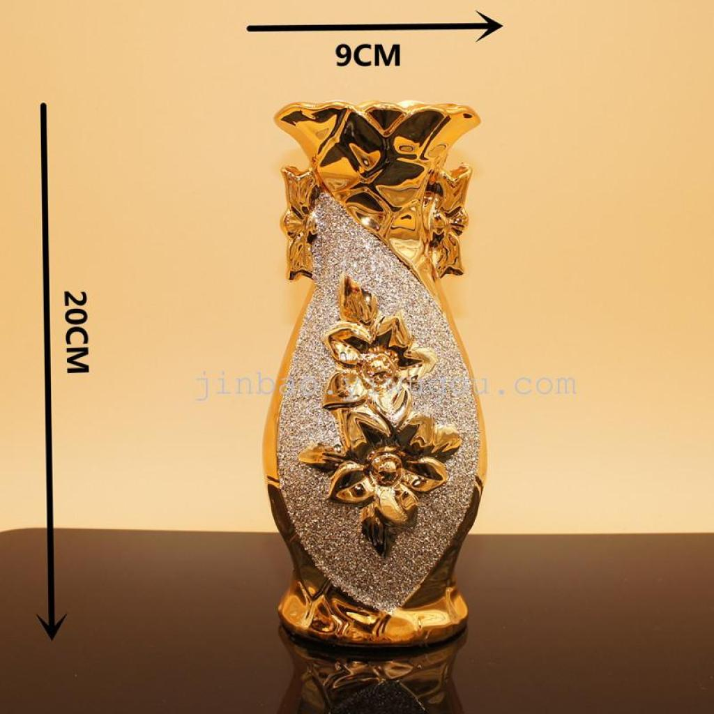 trois séries d'ameublement de maison en vase de fleurs placage table de salon de décoration.