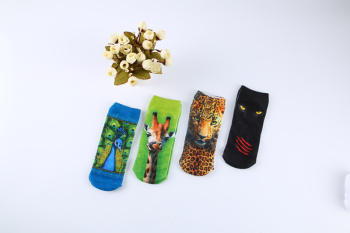 3D hot transfer animal printed socks cartoon socks fashion foreign trade printing socks