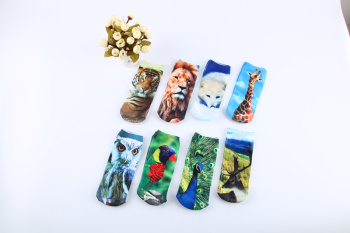 Factory direct heat transfer fashion print socks cartoon socks children printed socks