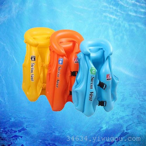 ABC inflatable swimming suit for children's life vest / swimming vest thickening safety children help swimsuit