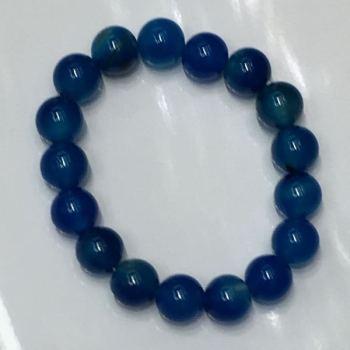 Natural stone blue agate bracelet accessories, necklace, pendant, factory direct sales
