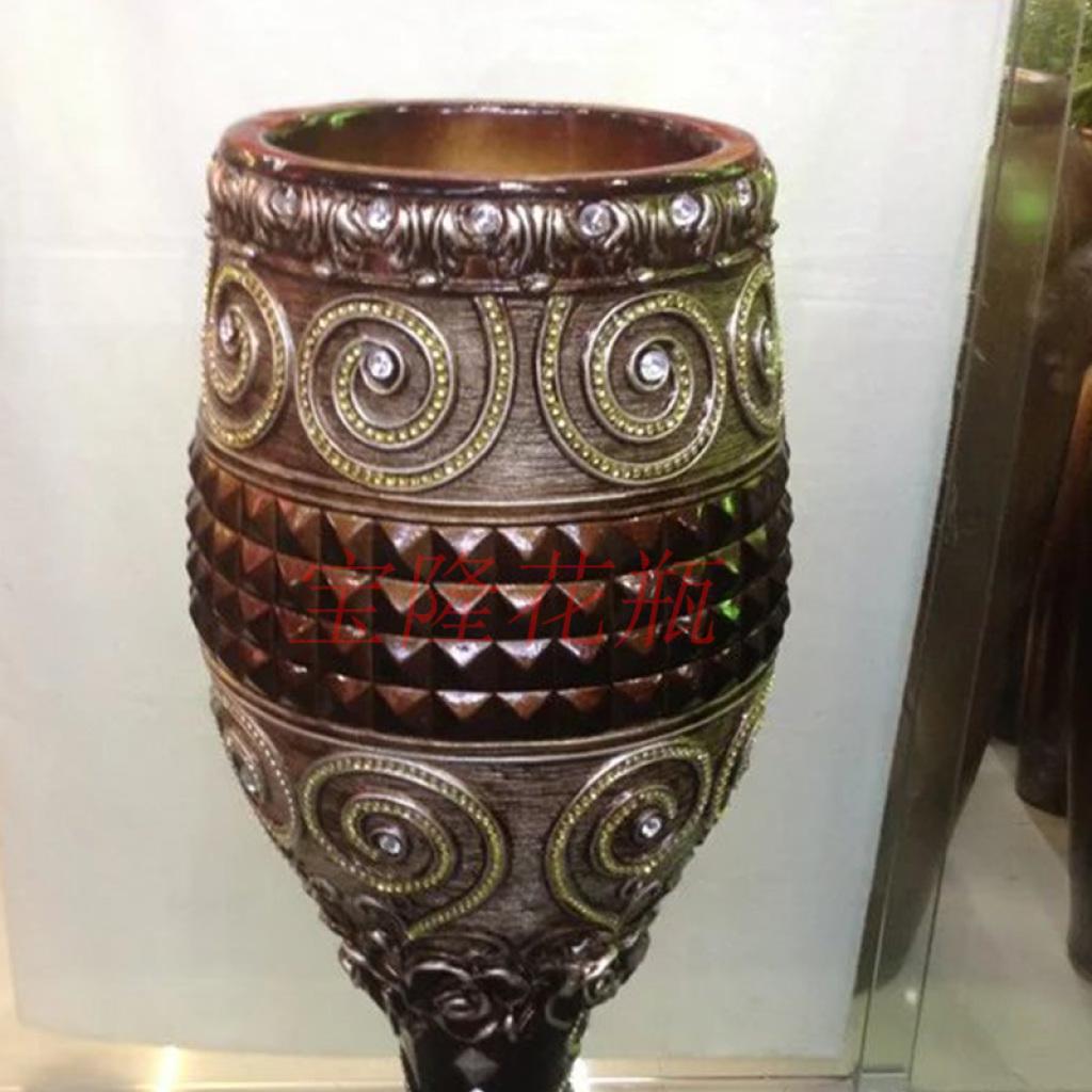 欧式落地酒杯插花客厅装饰摆件