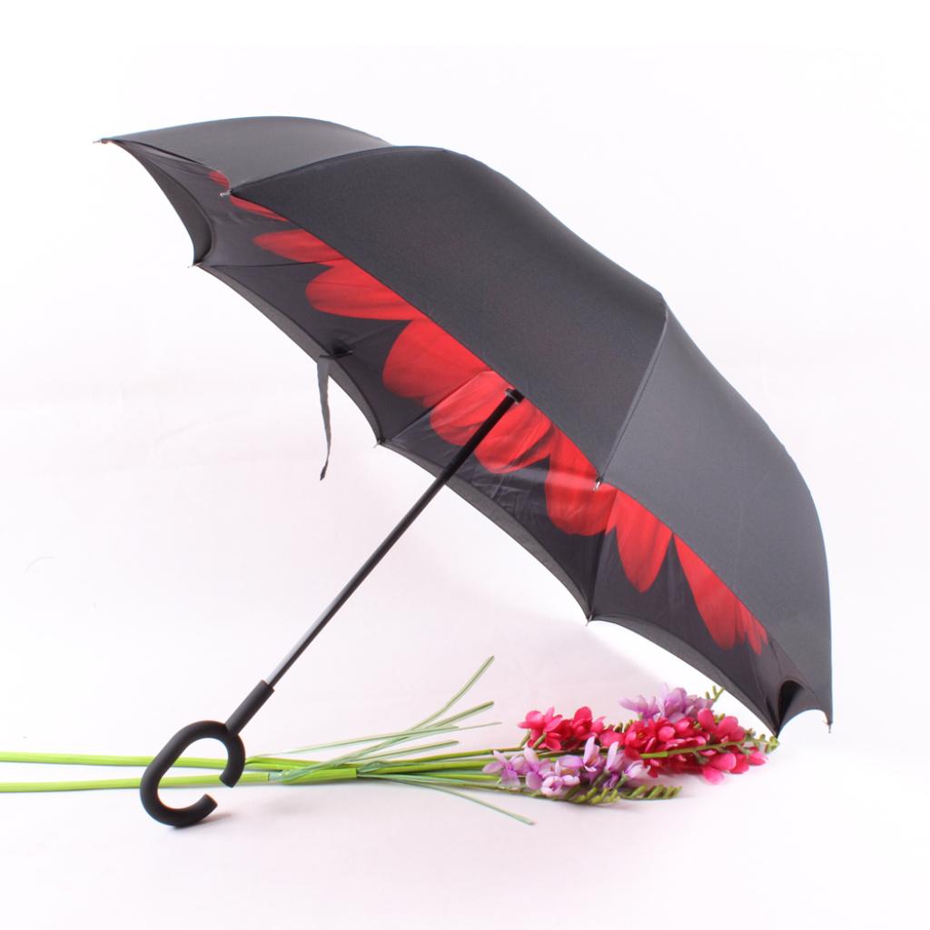 反向伞双层免持式创意伞小雏菊防晒汽车晴雨伞各种图案订做广告伞图片