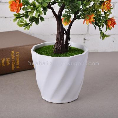 Pisifera simulation flower camellia flowers bonsai pot plastic package