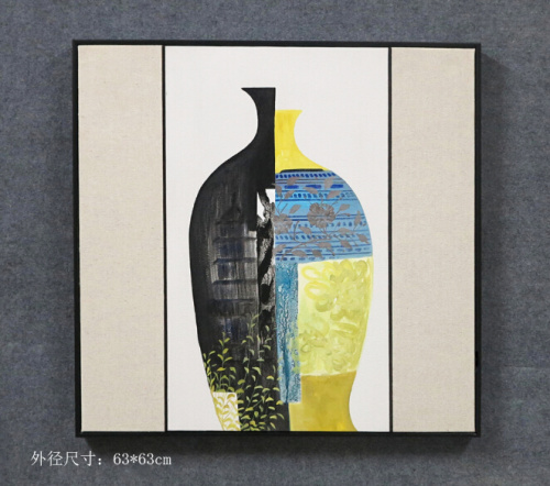 Abstract the study of ceramic vases still work with the entrance of Sofa Hotel frame wall painting decorative painting
