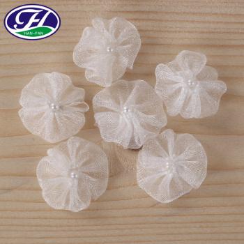 White transparent pearl decorative ribbon flower jewelry wedding accessories