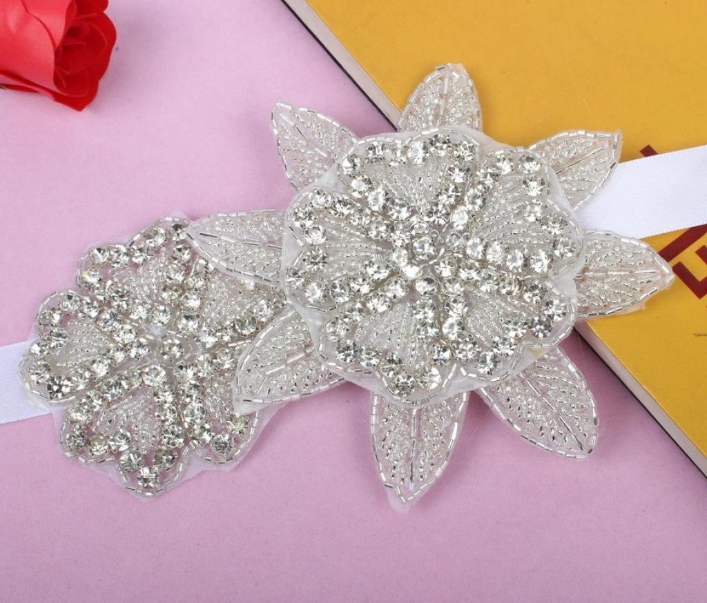 欧美新娘头饰 发带 高档纯手工缝制串珠发饰 头带