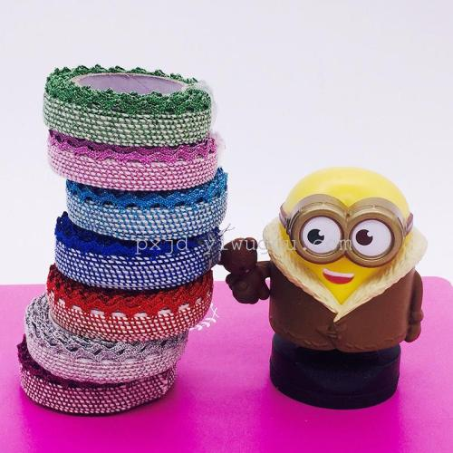 Gold fabric decoration crafts DIY hollow multicolor office supplies packaging color tape tape