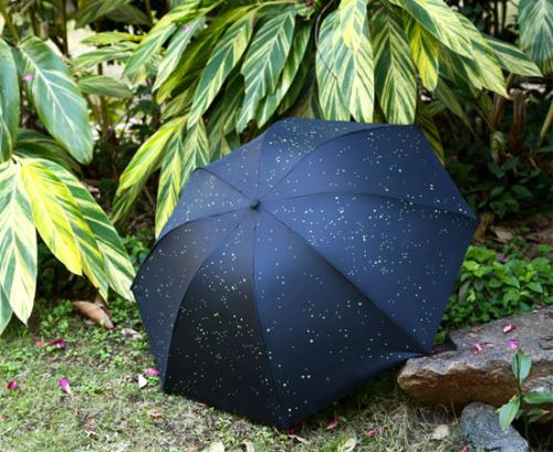 Cartoon umbrella umbrella student Umbrella Black Folding Umbrella