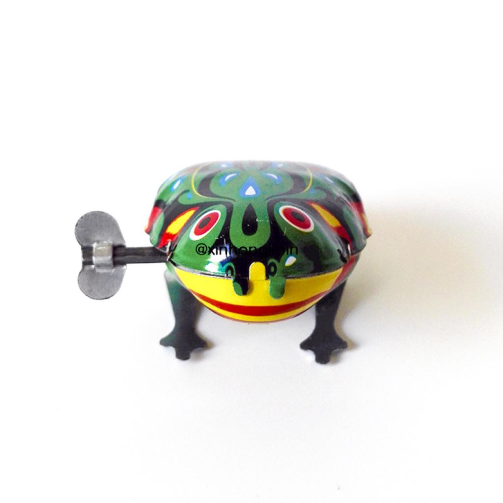 铁皮青蛙 怀旧发条玩具 上链发条青蛙