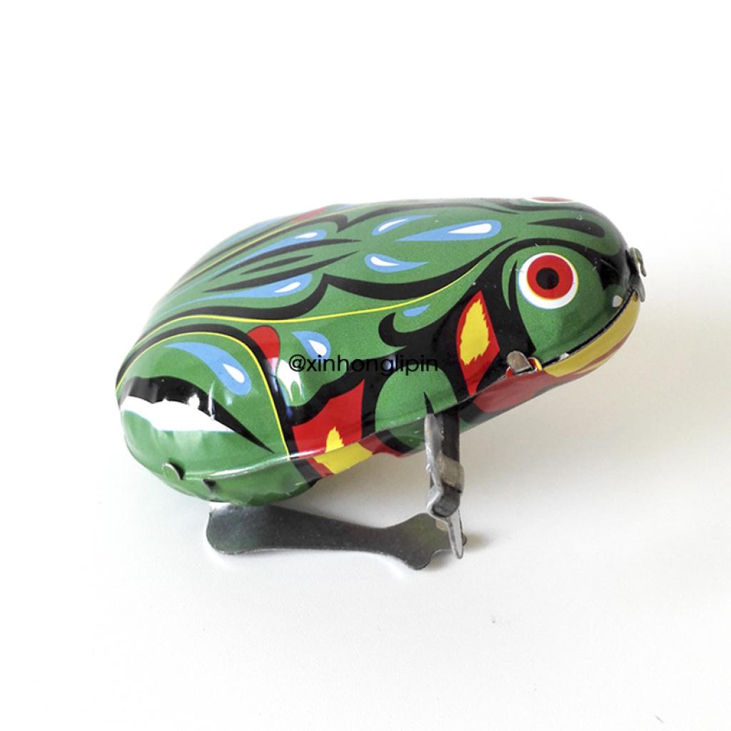 欧版铁皮青蛙 怀旧发条玩具 上链发条青蛙