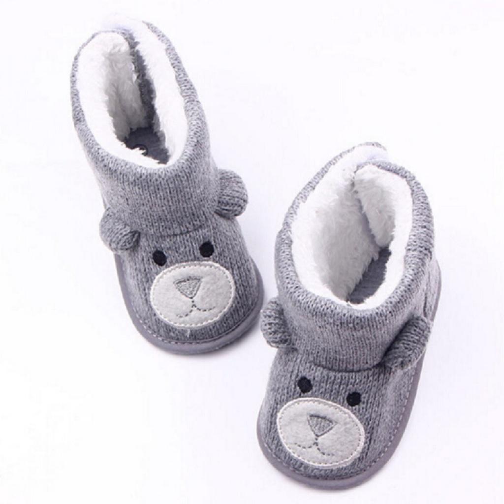 秋冬新款 小熊针织加绒婴儿鞋 宝宝鞋 学步鞋