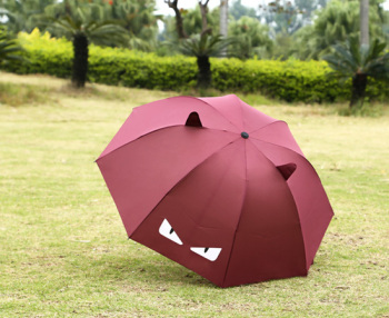 Cartoon umbrella small monster umbrella student umbrella folding umbrella umbrella