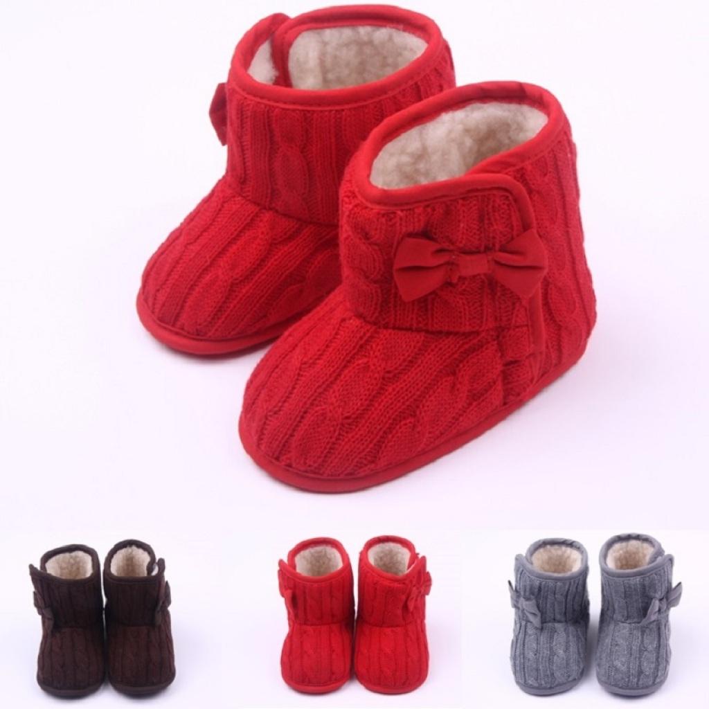 冬季新款 毛线针织婴儿棉鞋 宝宝鞋 学步鞋