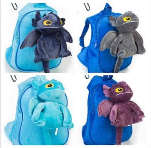 Taming the dragon master night frost plush toys children bag kindergarten backpack