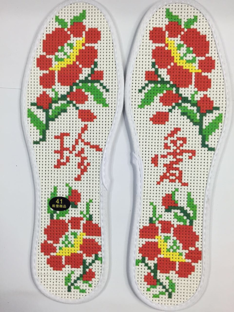 十字绣针孔印花鞋垫,精准印花,好扎易绣,厂家直销 款式多样