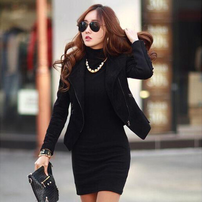 New Korean women slim package hip turtleneck in the long sleeved shirt female T-shirt