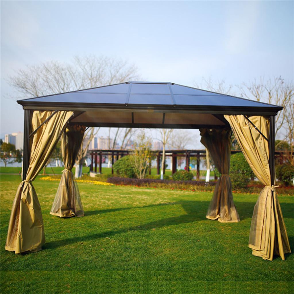 户外罗马蓬遮阳棚雨棚帐篷庭院花园凉亭室外活动pvc阳光棚