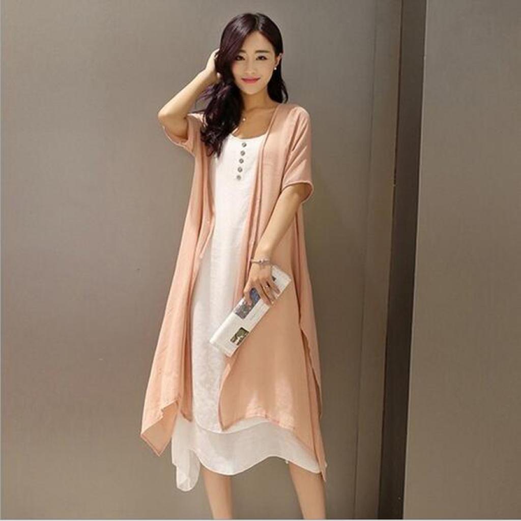 Supply Xia Da Code Women S Casual Dress Linen Dress Literature Two