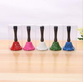 厂家供应高档金属摇铃 可以定做颜色和字体游戏玩具摇铃批发