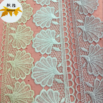 Manufacturer of high quality polyester shell lace can be asked to dye
