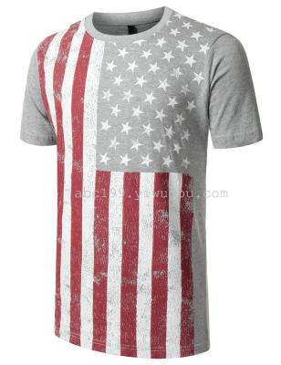 Custom round necks men's cultural advertising shirt Rice Mesh quick dry Breathable Moisture absorption national flag T-shirt
