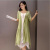 Xia Da code women's casual dress linen dress literature two piece suit