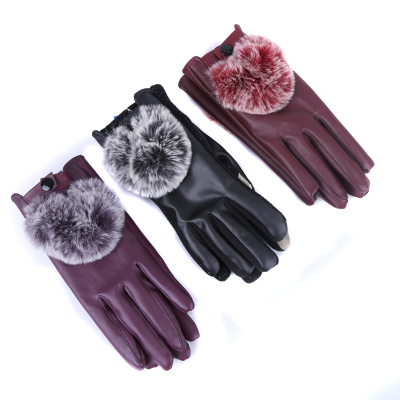 Golden U touch screen muzzle gloves warm cotton Korean version of the cold muzzle plus thick and warm.