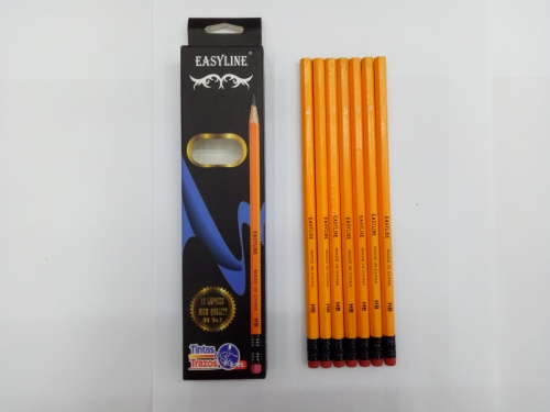 Easy Line 12 yellow rod HB pencil