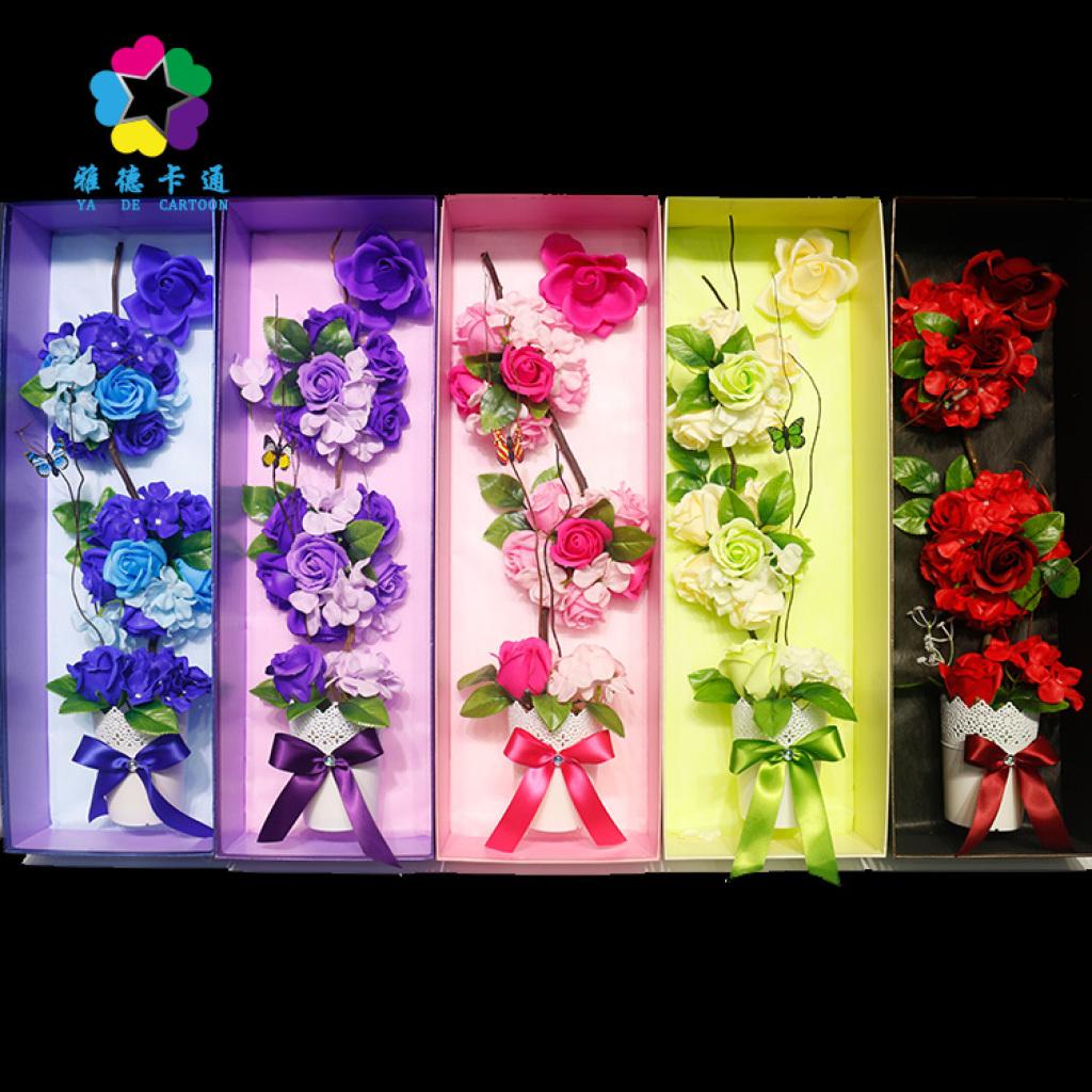 手工制作香皂玫瑰花 创意七夕情人节香皂玫瑰花批发