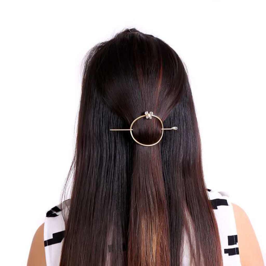 韩国爱心马尾扣盘发发夹爱心复古发钗发插优雅头饰品 合金发簪子图片