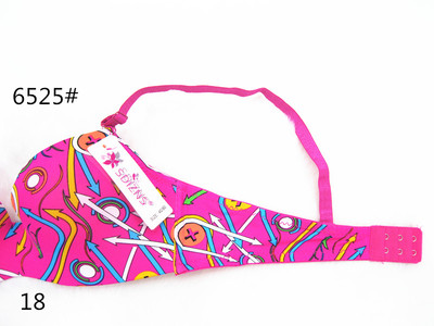 The new printing of foreign trade bra color multi-color bra a piece of indentation bra underwear