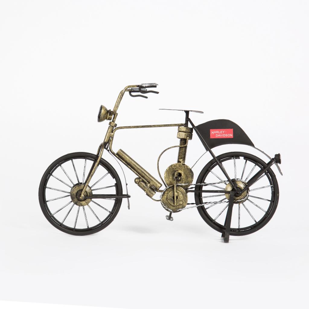 手工复古老式自行车摆件