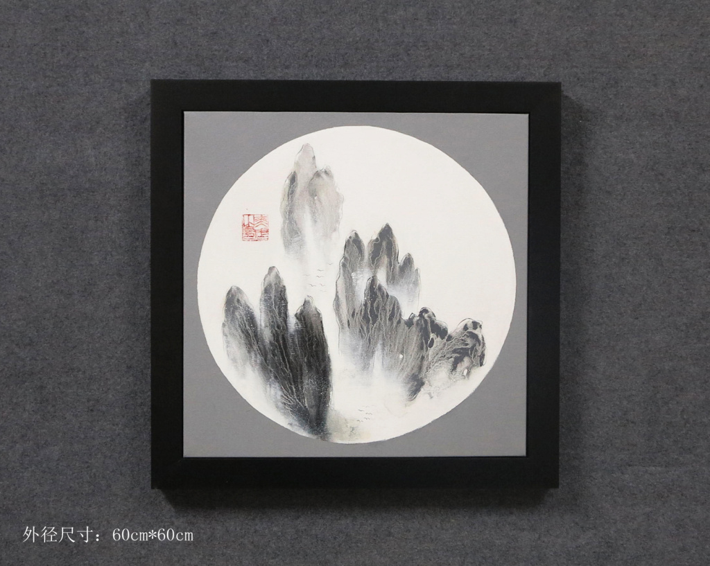 新中式古典诗意餐厅客厅挂画酒店工厂装饰画禅意墙画