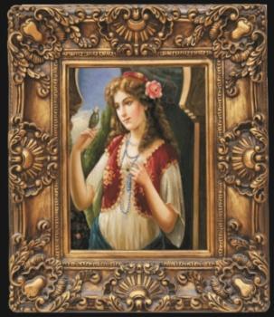厂家直销 小型欧式画框 经典装饰画 复古艺术框 油画迷你框