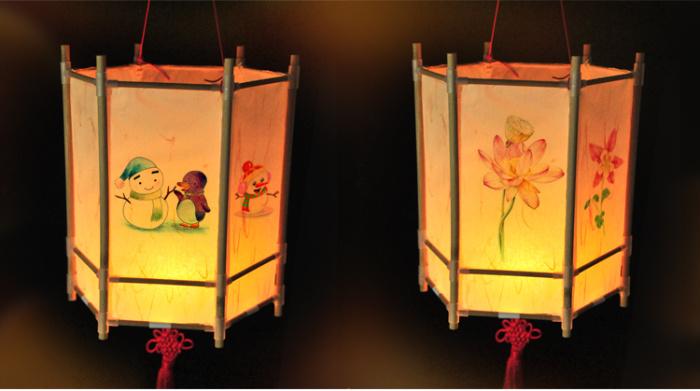 diy手工灯笼材料包亲子活动儿童装饰花灯自己