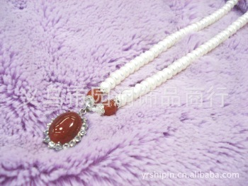 Pearl necklace red agate pendant accessories wholesale sweater chain rings
